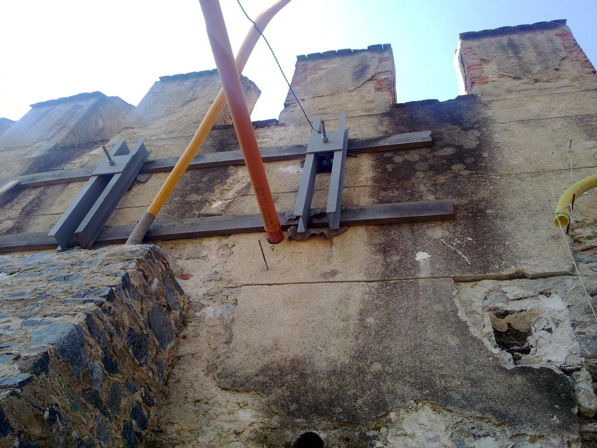 statika hradby