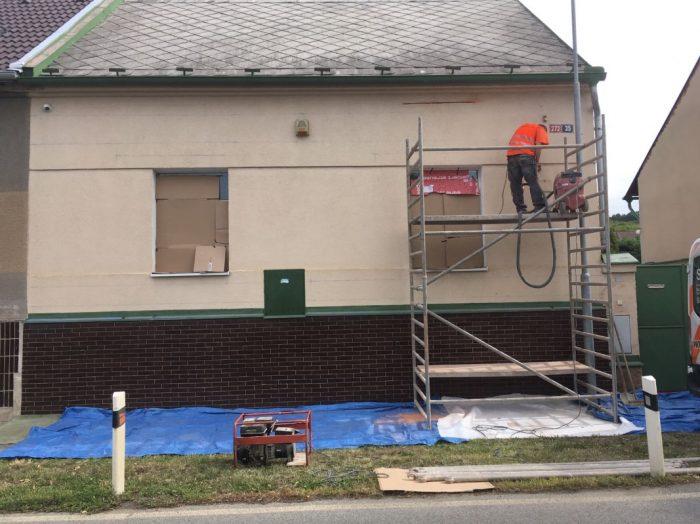 oprava prasklin zdiva